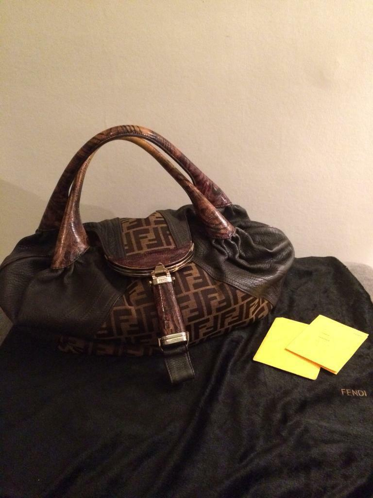 b8ec9f13f43a shopping fendi zucca canvas and tortoise leather spy bag a874c 3796f   shopping genuine fendi zucca spy bag 86fcf aaa1d