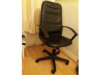 Smart quality adjustable black faux leather chair
