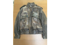 Classic zip front leather jacket size 44