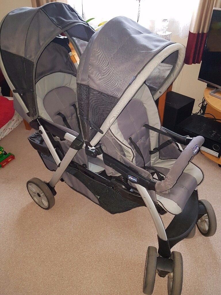 Chicco Double Stroller+Car seat