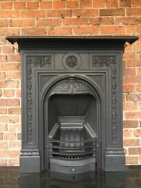 DEl Free or £25 max uk Victorian cast iron fireplace