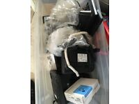 Used but still working telephones ideal for a call centre also head sets aswell