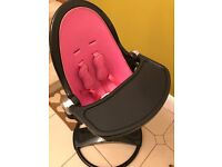 Bloom Fresco Bloom High Chair with neon pink starter kit / stand