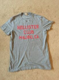 Mens Grey & Pink Hollister T-Shirt