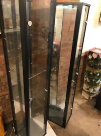 Pair of display cabinet from Argos - Black