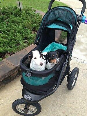 *Pet Gear Stroller Jog Walk Skyline NV No-Zip Weather Cover to 70 lbs PG8450NVS