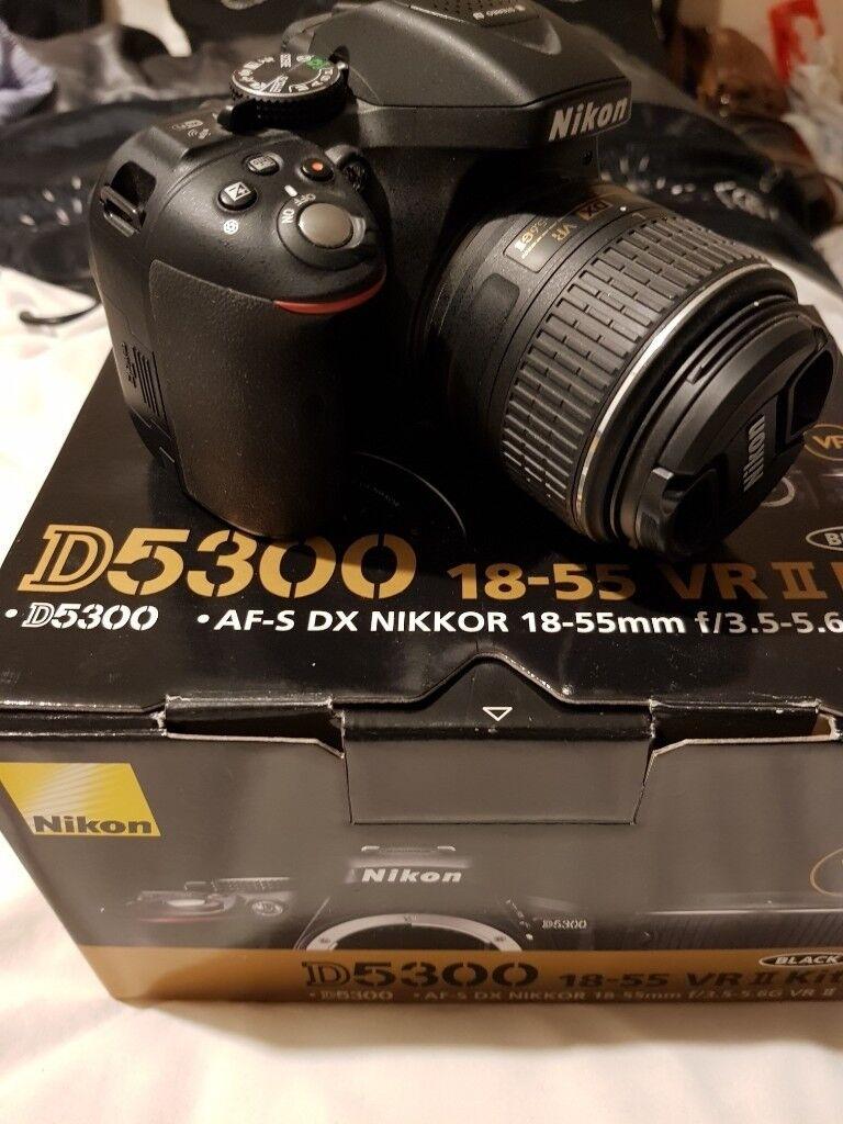 Nikon D5300 242mp Digital Slr Camera Black Kit C W 18 55mm Af P Vr