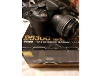 Nikon D5300 24.2MP Digital SLR Camera - Black Kit c/w 18-55mm AF-P VR Lens DSLR like canon