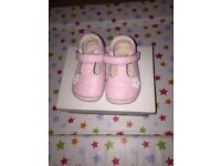 Clarks pink infant shoes
