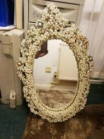 pearl incrusted mirror