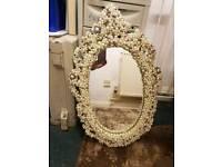 pearl incrusted mirror