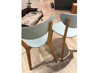 FREE 2 painted wood IKEA kitchen chairs