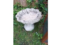 antique stone shell shape bird bath collect in Thatcham