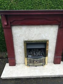 Gas Fire with surround - £75 buyer collects