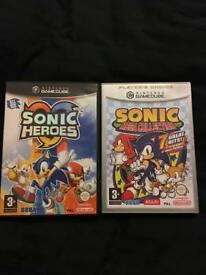 Nintendo GameCube games. Sonic Heroes and Sonic Mega collection