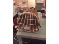 Cat or small dog basket carrier