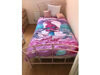 Single bed frame and mattress for sale