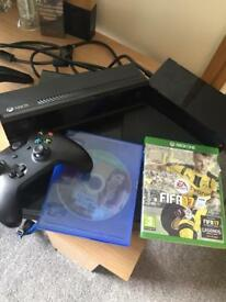 XBOX ONE w/ KINECT, 7 GAMES ONE PAD