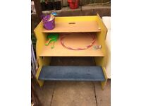 Children's desk work station yellow submarine