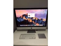 2011 IMac 27 inch Desktop with track pad and keyboard 16GB 1333mhz DDR3, 2.7 GHz Intel core i5