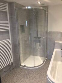 Shower enclosure Crosswater Simpsons Edge offset quadrant single door 1000mm x 800mm EQSSC10X8