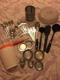 Big bundle of kitchen items