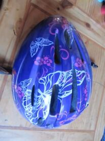 Lovely Purple Bicycle Helmet Size S/M 54-58cms