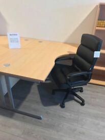 Beech desks - NEW - crescent left or right - straight - workplace , office desks, meeting desks