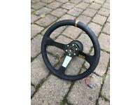 Focus ST 225 sparco quick release steering wheel