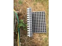 Seed module trays, for raising seedlings