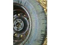 3 spare tyres for VW golf