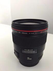 Canon EF 35mm f/1.4 L USM Lens Prime Lens for 1Dx 5DSR 5D III 7D II ++ EXCELLENT CONDITION +++