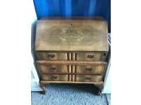 Walnut veneered Bureau with FREE DELIVERY PLYMOUTH AREA