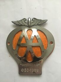 Vintage AA Chrome Badge