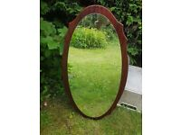 Pretty edged solid wood vintage mirror