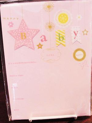 STAY IN TOUCH NIP BABY SHOWER GIRL INVITATIONS PACKAGES OF 10 CHARMING! TARGET - Target Baby Shower Invitations