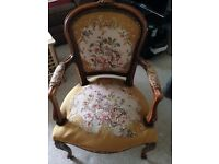 Beautiful Victorian arm chairs- a piece of antique
