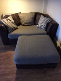 DFS 2 seater sofa + footstool £250