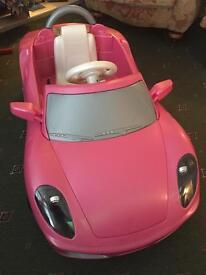 Girls electric Ferrari Car