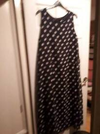 Black and white poker dot dress