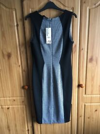 Womens black and grey dress size 10