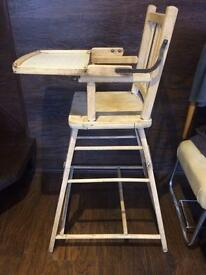 Stunning antique high chair
