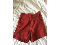 Whistles Red High Waist shorts