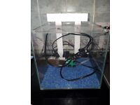 A 22ltr tropical fish tank with light and all electrics