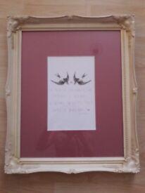 Sweet art print with beautiful frame