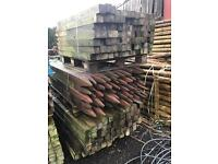 "Approximately 450 3""x3"" fence posts"