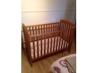 Kiddicare cot bed and mattress