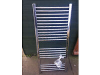Used silver towel rail