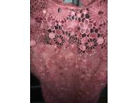 Beautiful! Worn once. Perfect for a wedding or special occasion. Matching fascination. Size 10.