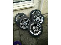 Bmw m5 17'' wheels with 2x brand new tyres will fit Renault and vauxhall vans.